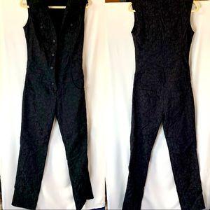 ZOOMP Black Evening Casual Jumpsuit size 3/4